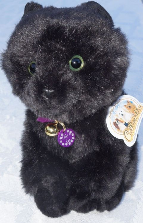 "BLACK CAT 12"" WITH OR WITHOUT COLLAR & PERSONALISED TAG price from"